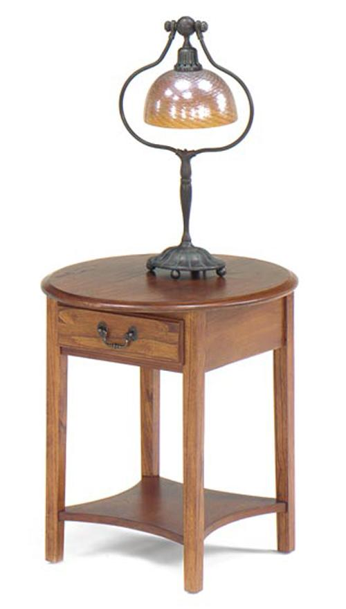 1900 International Accents Petite Oval End Table by Null Furniture at Dunk & Bright Furniture
