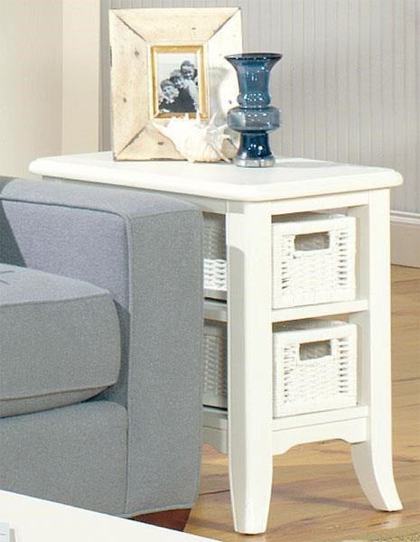 Null Furniture 4010W CHAIRSIDE TABLE - Item Number: 4010-07W