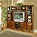 Oak Furniture West Arlington Entertainmnet Center - Item Number: 1455-R+73+75+80