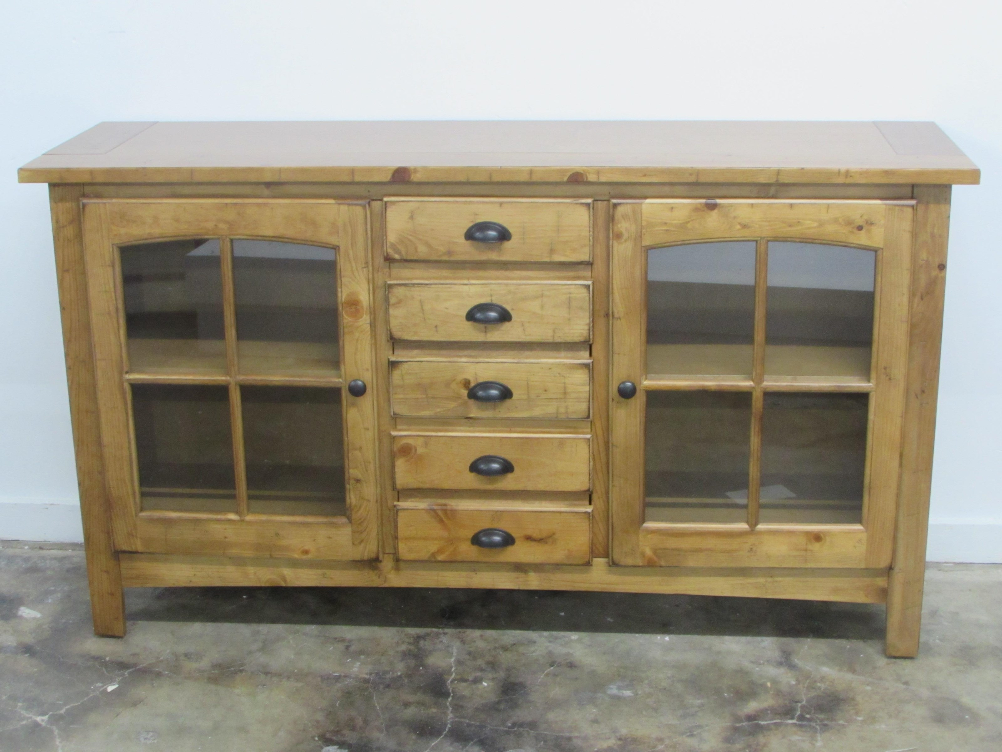 "Oak Furniture West 1564 64"" TV Stand - Item Number: 1564IRLP"