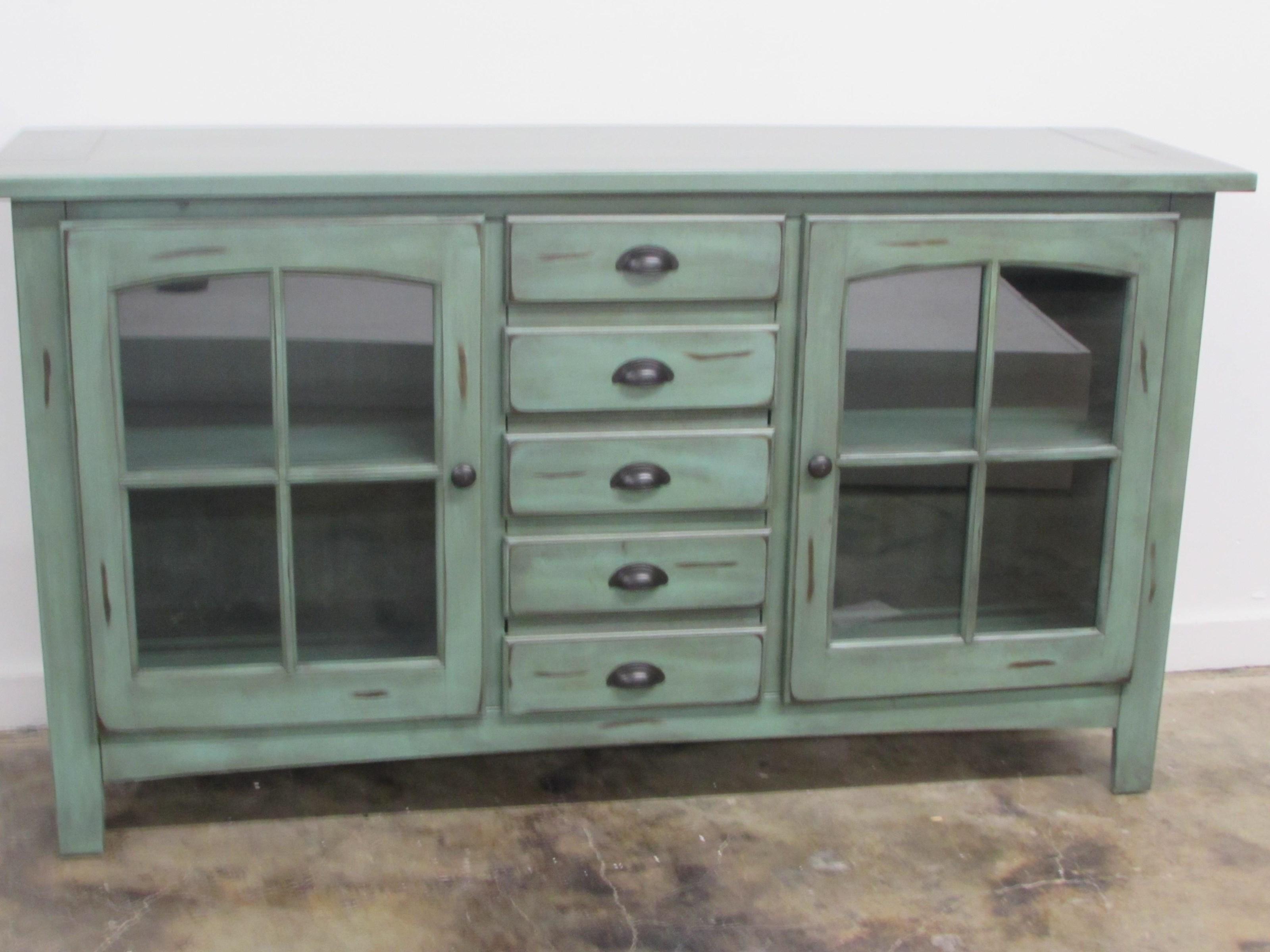 "Oak Furniture West 1564 64"" TV Stand - Item Number: 1564L"