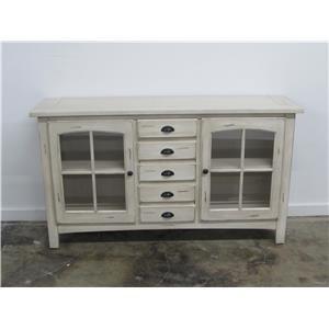 """Oak Furniture West 1564 64"""" TV Stand"""