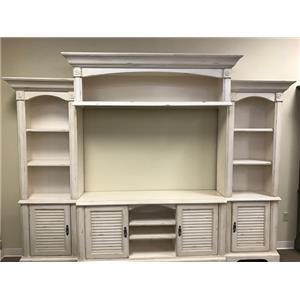 Oak Furniture West 4049CHW 4 Piece Wall Unit