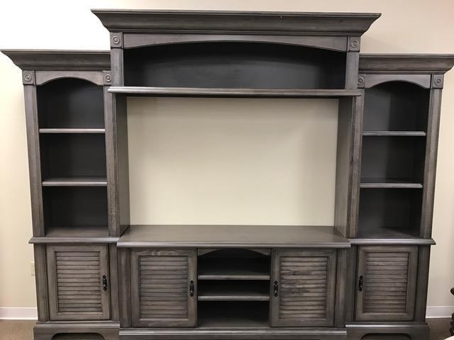 Oak Furniture West 4049DFW 4 Piece Wall Unit - Item Number: 4049grey
