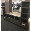 Oak Furniture West 6078-6049 Cube Style TV Wall unit - Item Number: 6078-6049