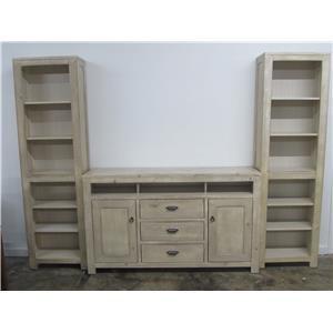 Oak Furniture West 6149BL 3 Piece Wall unit