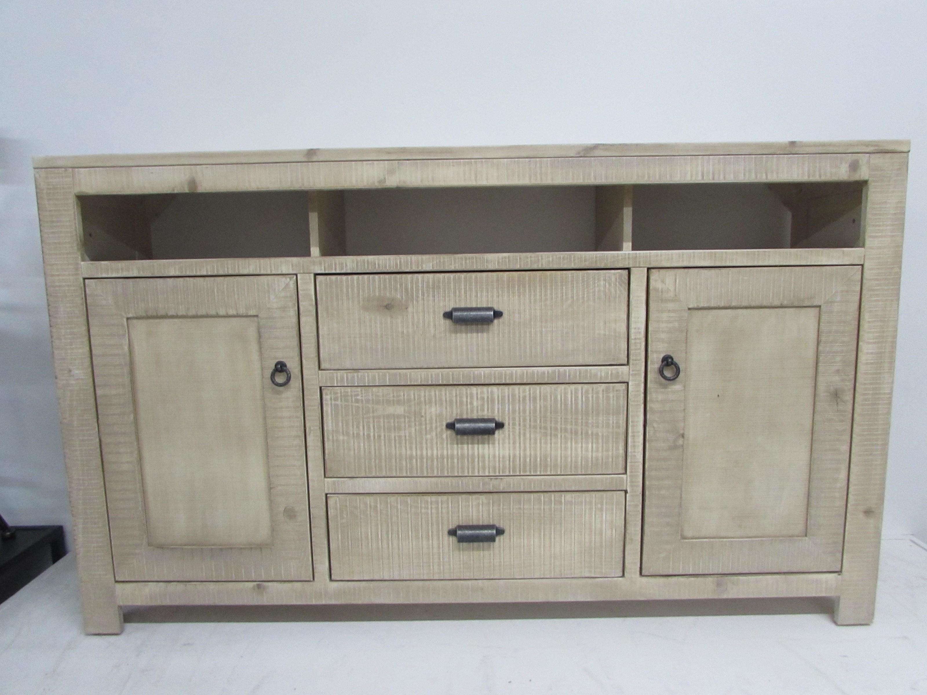 """Oak Furniture West 6149BL 66"""" TV stand - Item Number: 6149HF"""