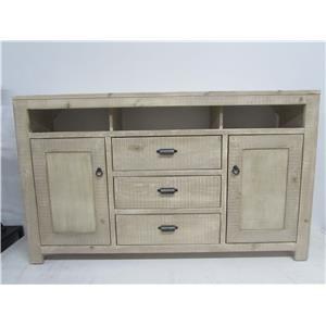 """Oak Furniture West 6149BL 66"""" TV stand"""