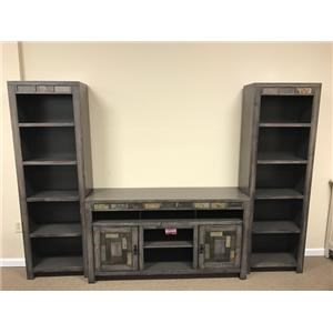 Oak Furniture West 6660 3 Piece Wall unit