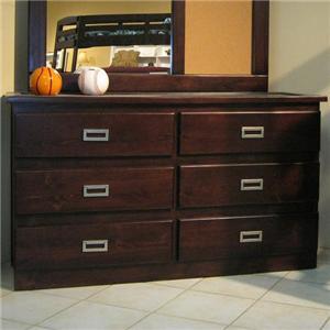 Oak Furniture West Campus Dresser