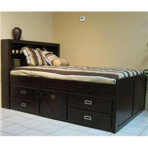 Oak Furniture West Campus Full Captain Bookcase Bed