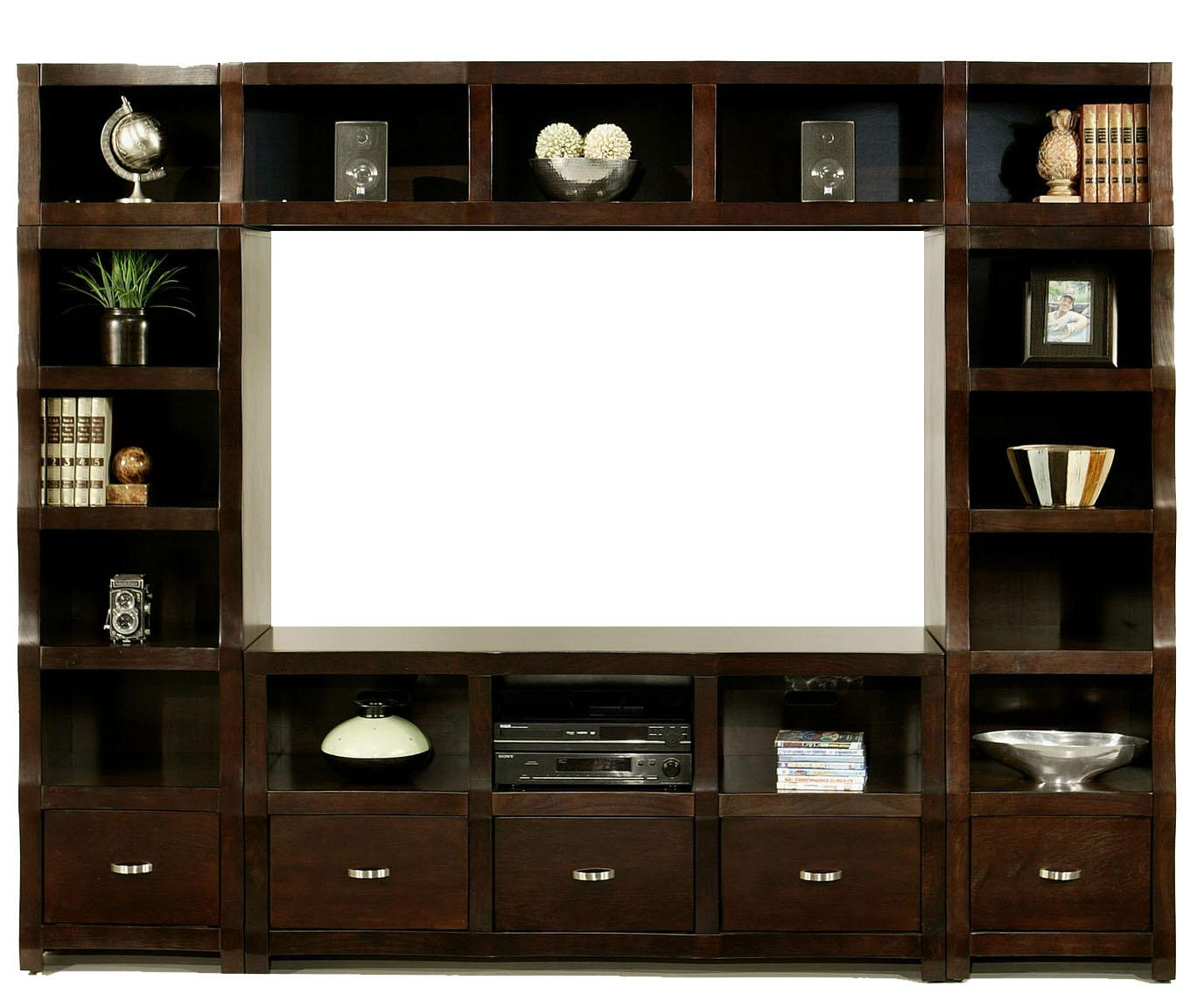 Morris Home Furnishings Cainhill Cainhill 4 Piece Wall Unit - Item Number: 6076+6078+6049+6086