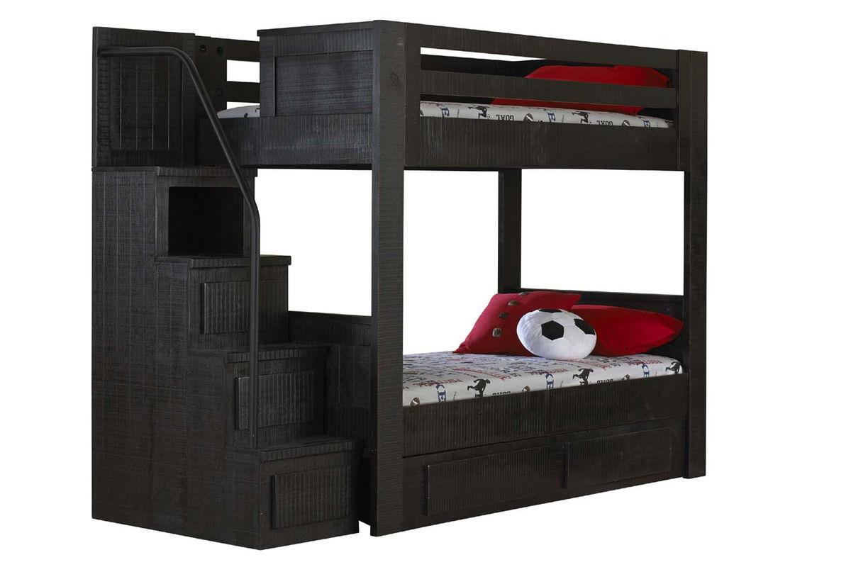 Morris Home Furnishings Frisco Frisco Twin Bunk Bed with Stairs - Item Number: 475815834