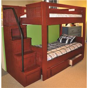 Morris Home Furnishings Frisco Frisco Full Bunk Bed with Stairs
