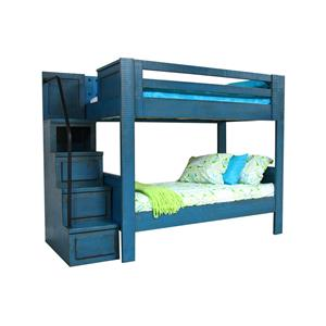 Morris Home Furnishings Frisco Frisco Twin Bunk Bed with Stairs