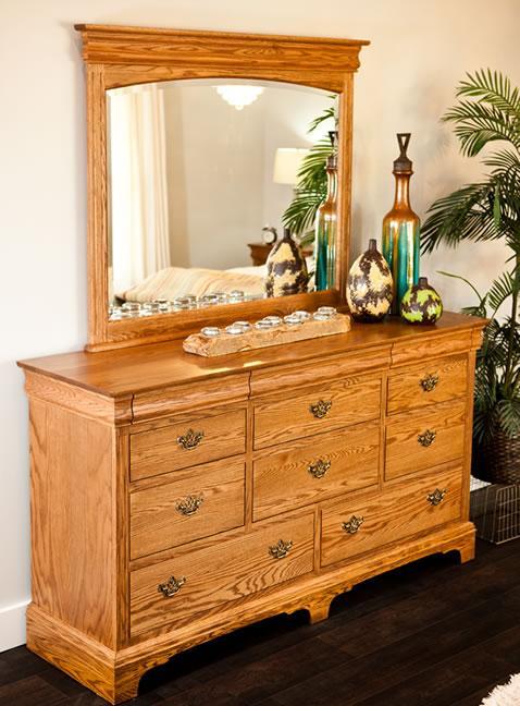 Edinburgh Dresser and Mirror Combo by Oakwood Industries at Mueller Furniture