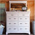 Oakwood Industries Edinburgh Grand Dresser and Mirror Set - Item Number: 8446+52