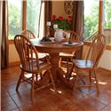 Oakwood Industries Casual Dining 5 Piece Dining Set - Item Number: 100E00+4x203