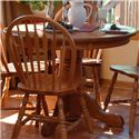 Oakwood Industries Casual Dining Round Pedestal Table - Item Number: 100E00