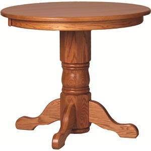 Oakwood Industries Casual Dining Round Bar Table