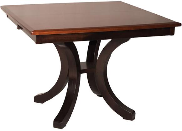 Casual Dining Bellevue Single Pedestal Dining Table by Oakwood Industries at Mueller Furniture
