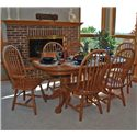 Oakwood Industries Casual Dining 7 Piece Dining Set - Item Number: 112C04+2x211+4x212