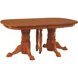Oakwood Industries Casual Dining Double Pedestal Banquet Table