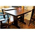Oakwood Industries Casual Dining Mini Mission Table - Item Number: 11602