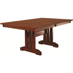 Oakwood Industries Casual Dining Mission Table