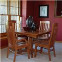 Oakwood Industries Casual Dining 5 Piece Dining Set - Item Number: 13100+222+3x221
