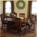 Oakwood Industries Casual Dining 7 Piece Dining Set - Item Number: 13304CH+2x222L+4x221L