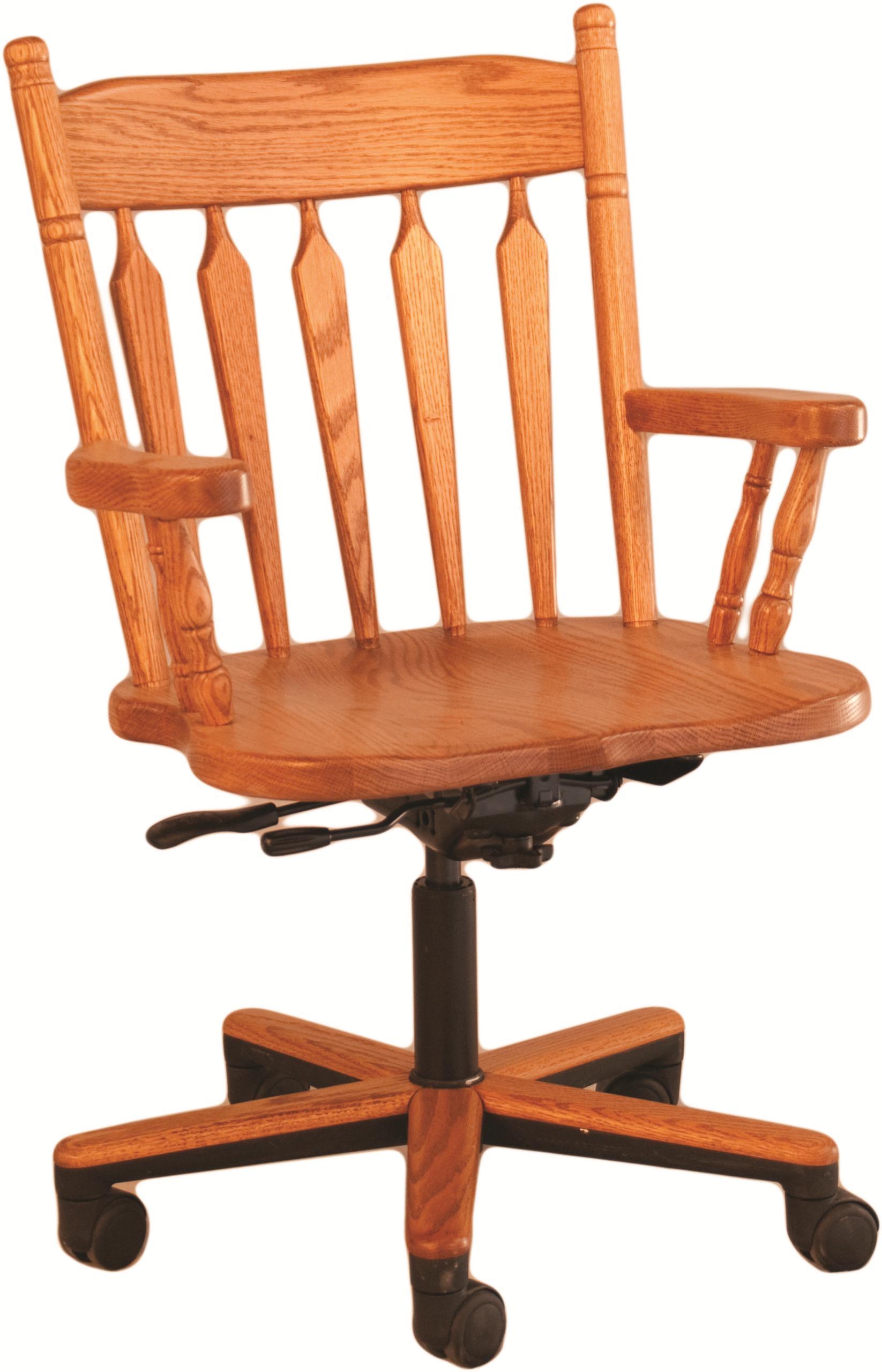 Plain Back Gas Lift Arm Chair