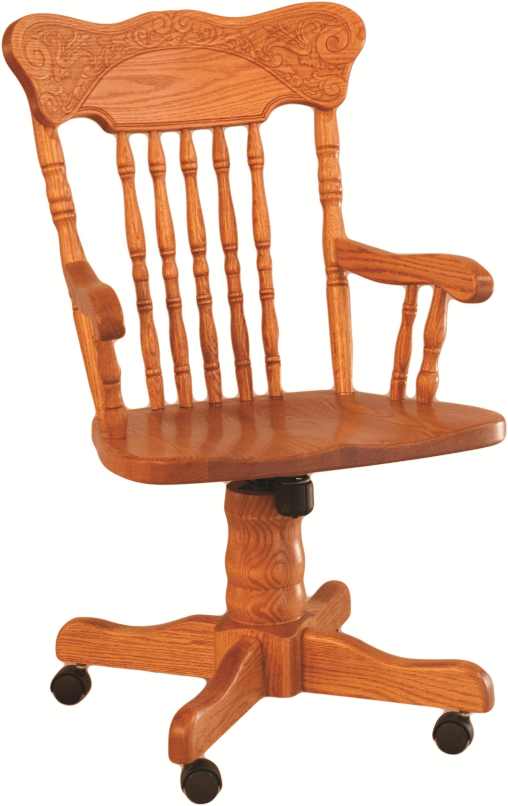 Pressed Back Roller Arm Chair