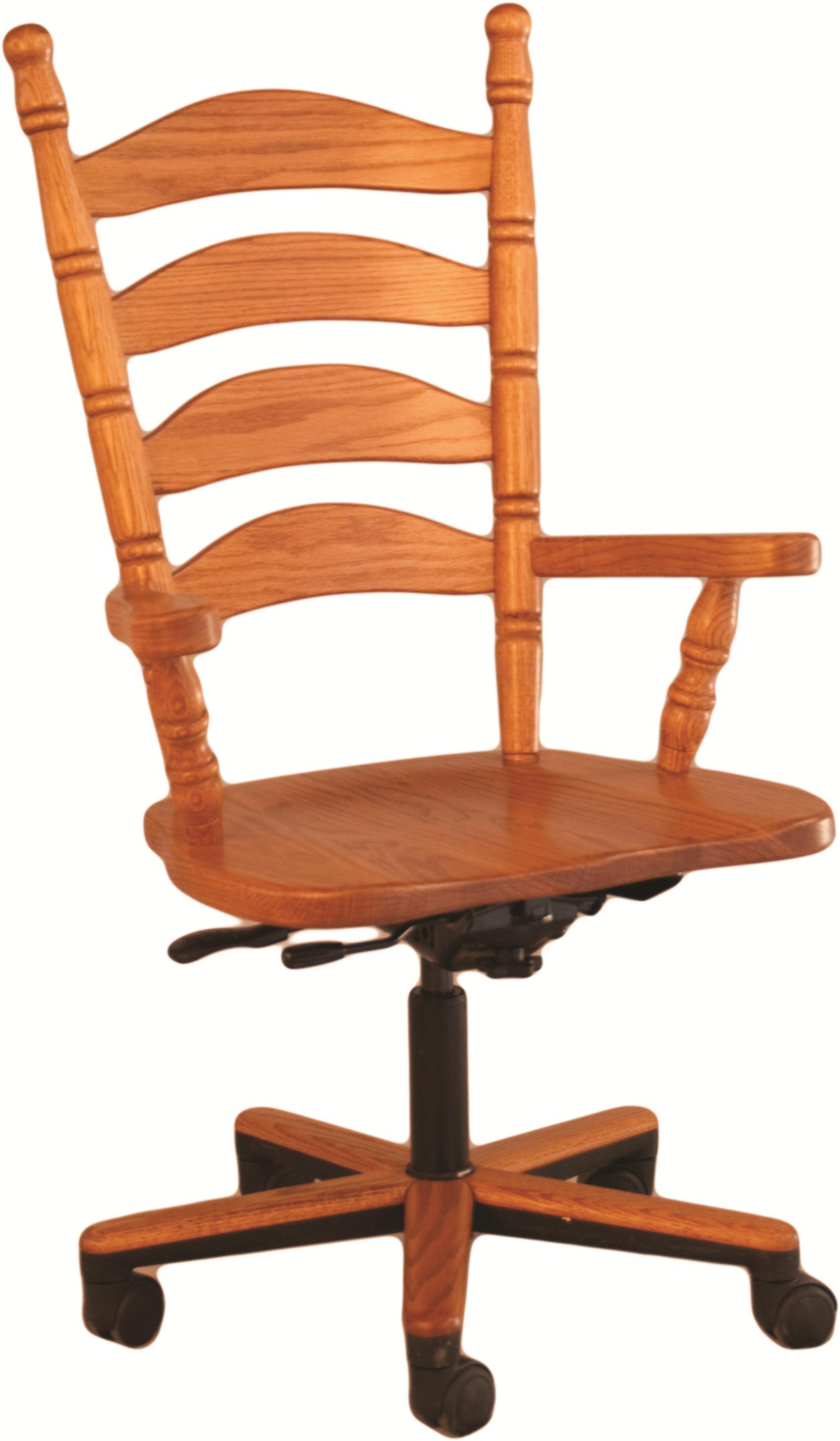 Ladder Back Gas Lift Arm Chair