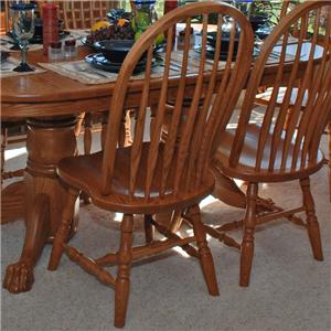 Oakwood Industries Casual Dining Bent Back Side Chair