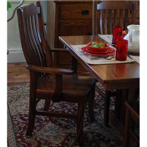 Oakwood Industries Casual Dining Mission Arm Chair