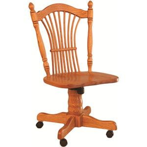 Oakwood Industries Casual Dining Sheaf Back Roller Side Chair