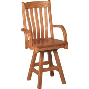 Oakwood Industries Casual Dining Contour Arm Barstool