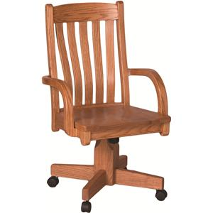 Oakwood Industries Casual Dining Contour Roller Arm Chair