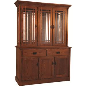 Oakwood Industries Casual Dining Mission Hutch