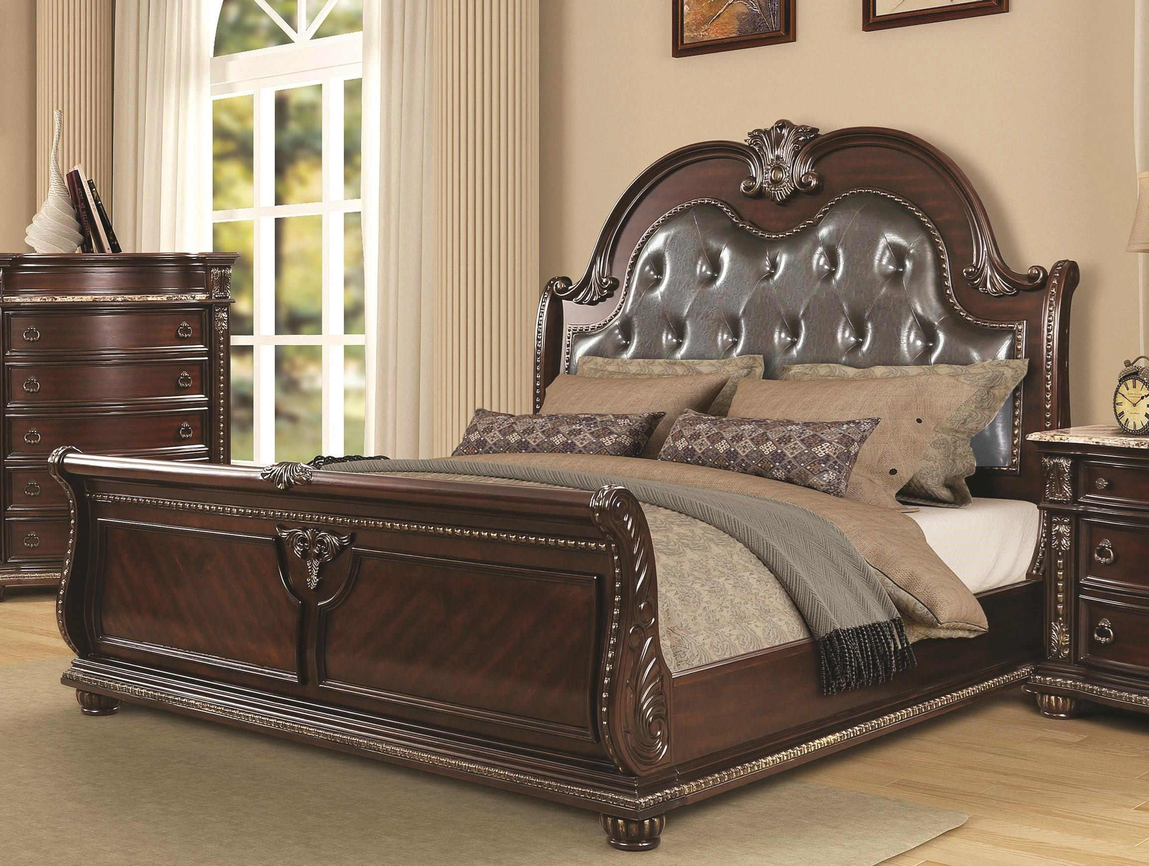 3600 BEAU King Sleigh Bed by Oasis Home & Decor at Furniture Fair - North Carolina