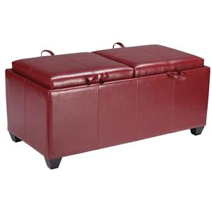 Office Star Benches Metro Double Storage Bench