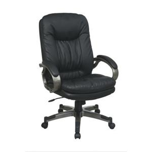 Office Star Executive Eco Leather Chairs Black Executive Leather Chair