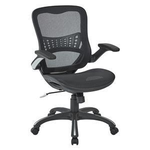 BLACK MESH SEAT CHAIR W/FLIP