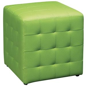 Office Star Ottomans Fabric Cube w/ Tufted Sides