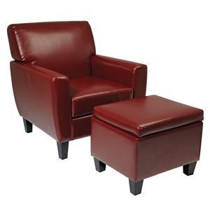 Office Star Palmetto Chair & Storage Ottoman