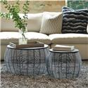 Office Star Tables Sets Round Metal Accent Tables - Item Number: CMN17A2-ES