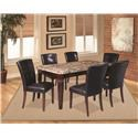 Offshore Furniture Source Arizona 6 Piece Dining Group with Bench - Item Number: SHOR-TBL-4SC-B