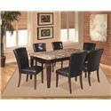 Offshore Furniture Source Arizona 5 Piece Dining Set - Item Number: SHOR-TBL-4SC