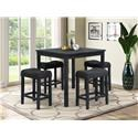 Offshore Furniture Source Portland Counterheight Table and 4 Stools - Item Number: 410302208